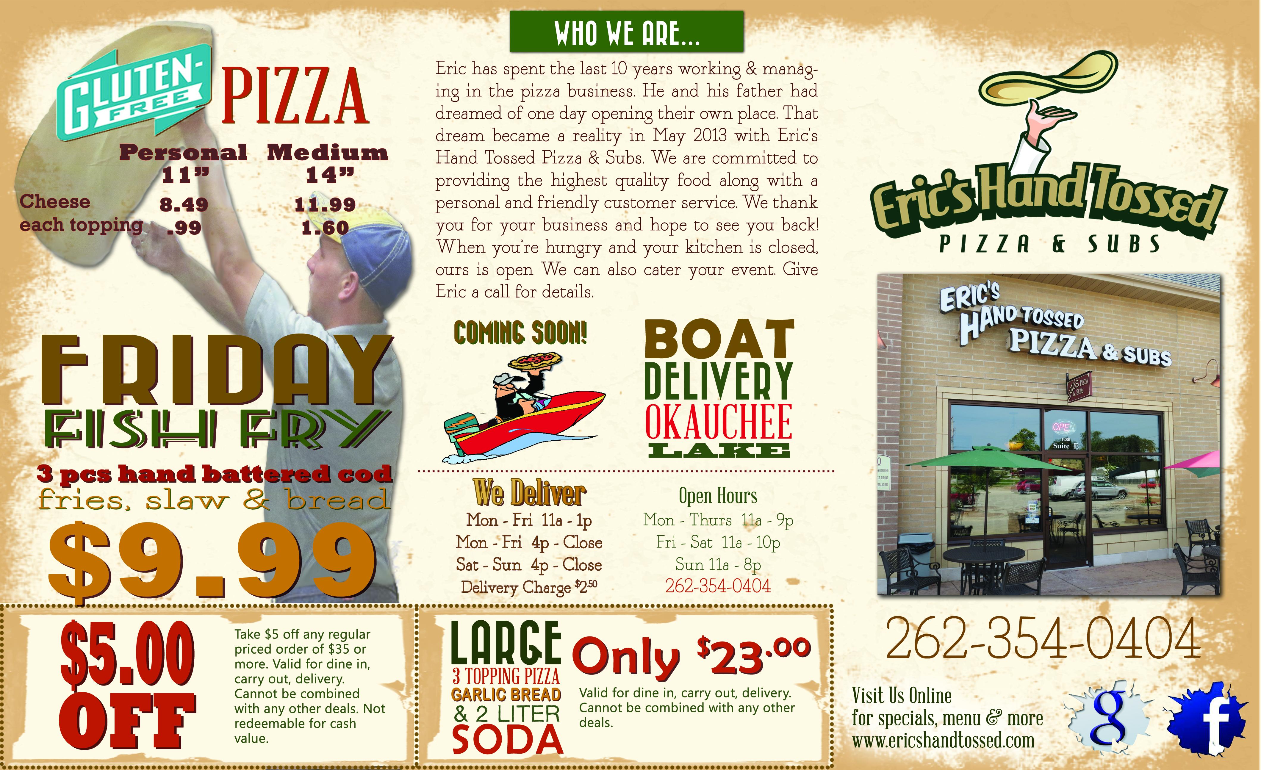 oconomowoc wi takeout menu design printing brochures